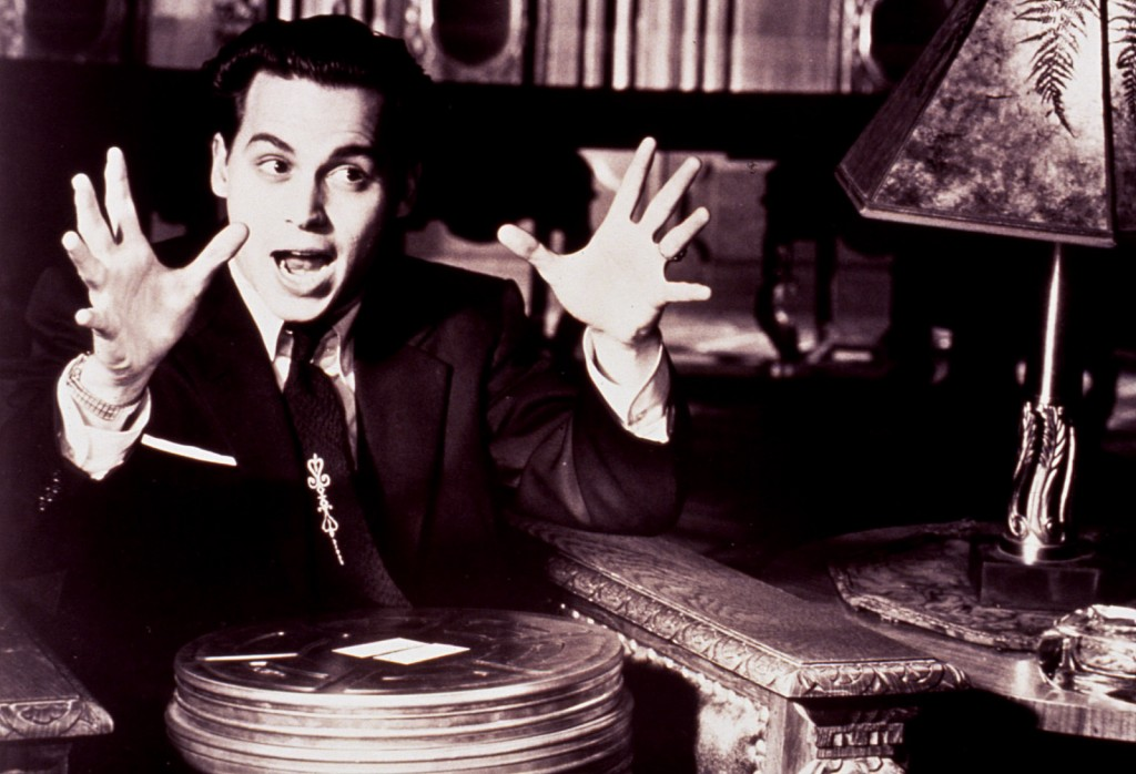 Johnny Depp as Ed Wood, this is one of Rene's and my favorite pictures depicting the excitement and magic of movies!